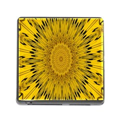 Pattern Petals Pipes Plants Memory Card Reader (square)