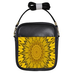 Pattern Petals Pipes Plants Girls Sling Bags
