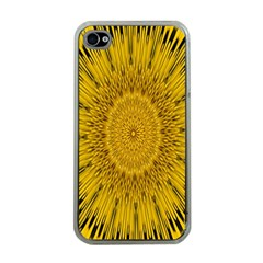 Pattern Petals Pipes Plants Apple Iphone 4 Case (clear)