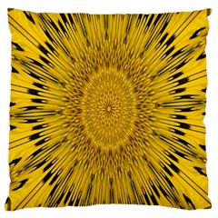 Pattern Petals Pipes Plants Large Cushion Case (two Sides)