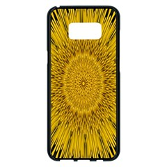 Pattern Petals Pipes Plants Samsung Galaxy S8 Plus Black Seamless Case