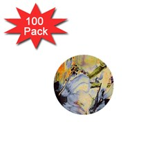 Flower Texture Pattern Fabric 1  Mini Buttons (100 Pack)