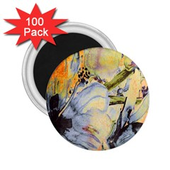 Flower Texture Pattern Fabric 2 25  Magnets (100 Pack)