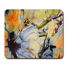 Flower Texture Pattern Fabric Large Mousepads