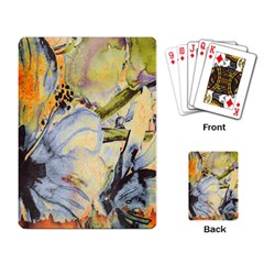 Flower Texture Pattern Fabric Playing Card