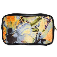 Flower Texture Pattern Fabric Toiletries Bags