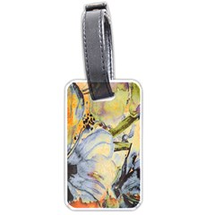 Flower Texture Pattern Fabric Luggage Tags (two Sides)