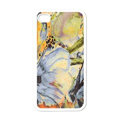 Flower Texture Pattern Fabric Apple Iphone 4 Case (white)