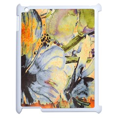 Flower Texture Pattern Fabric Apple Ipad 2 Case (white)