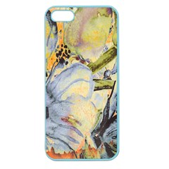 Flower Texture Pattern Fabric Apple Seamless Iphone 5 Case (color)