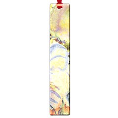 Flower Texture Pattern Fabric Large Book Marks