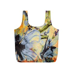 Flower Texture Pattern Fabric Full Print Recycle Bags (s)