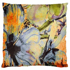 Flower Texture Pattern Fabric Standard Flano Cushion Case (one Side)
