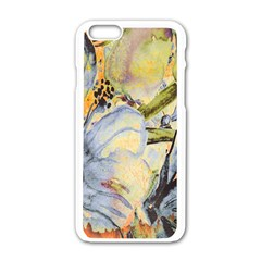 Flower Texture Pattern Fabric Apple Iphone 6/6s White Enamel Case