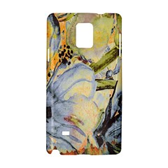 Flower Texture Pattern Fabric Samsung Galaxy Note 4 Hardshell Case