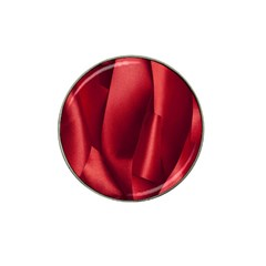 Red Fabric Textile Macro Detail Hat Clip Ball Marker (4 Pack)