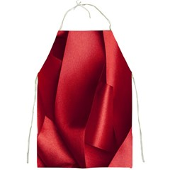 Red Fabric Textile Macro Detail Full Print Aprons