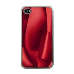 Red Fabric Textile Macro Detail Apple Iphone 4 Case (clear)