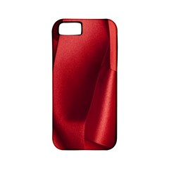 Red Fabric Textile Macro Detail Apple Iphone 5 Classic Hardshell Case (pc+silicone)