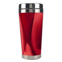 Red Fabric Textile Macro Detail Stainless Steel Travel Tumblers