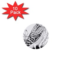 Animal Bird Forest Nature Owl 1  Mini Buttons (10 Pack)