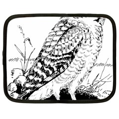 Animal Bird Forest Nature Owl Netbook Case (large)