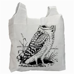 Animal Bird Forest Nature Owl Recycle Bag (one Side)