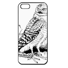 Animal Bird Forest Nature Owl Apple Iphone 5 Seamless Case (black)