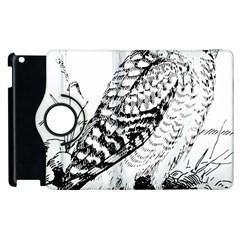 Animal Bird Forest Nature Owl Apple Ipad 3/4 Flip 360 Case