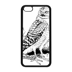 Animal Bird Forest Nature Owl Apple Iphone 5c Seamless Case (black)