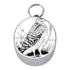 Animal Bird Forest Nature Owl Mini Silver Compasses