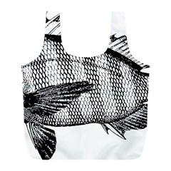 Animal Fish Ocean Sea Full Print Recycle Bags (l)
