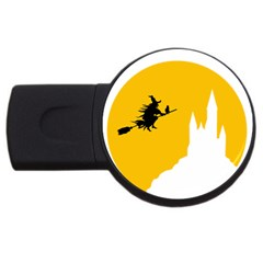 Castle Cat Evil Female Fictional Usb Flash Drive Round (2 Gb)