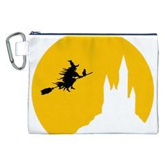 Castle Cat Evil Female Fictional Canvas Cosmetic Bag (xxl)