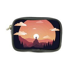 Design Art Hill Hut Landscape Coin Purse
