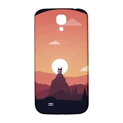 Design Art Hill Hut Landscape Samsung Galaxy S4 I9500/i9505  Hardshell Back Case