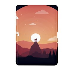 Design Art Hill Hut Landscape Samsung Galaxy Tab 2 (10 1 ) P5100 Hardshell Case