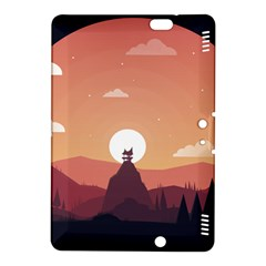 Design Art Hill Hut Landscape Kindle Fire Hdx 8 9  Hardshell Case