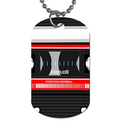 Compact Cassette Musicassette Mc Dog Tag (one Side)