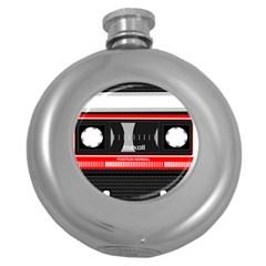 Compact Cassette Musicassette Mc Round Hip Flask (5 Oz)