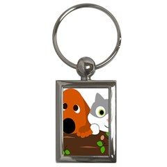 Baby Decoration Cat Dog Stuff Key Chains (rectangle)