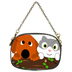 Baby Decoration Cat Dog Stuff Chain Purses (two Sides)