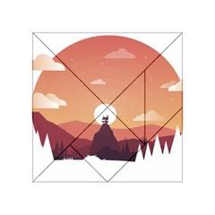 Design Art Hill Hut Landscape Acrylic Tangram Puzzle (4  X 4 )