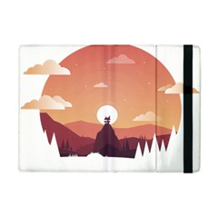 Design Art Hill Hut Landscape Apple Ipad Mini Flip Case