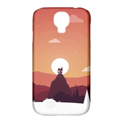 Design Art Hill Hut Landscape Samsung Galaxy S4 Classic Hardshell Case (pc+silicone)