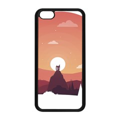 Design Art Hill Hut Landscape Apple Iphone 5c Seamless Case (black)
