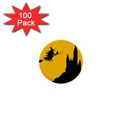 Castle Cat Evil Female Fictional 1  Mini Buttons (100 Pack)