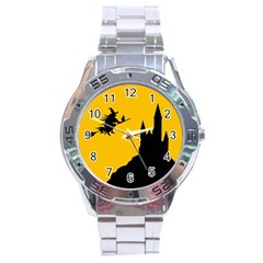 Castle Cat Evil Female Fictional Stainless Steel Analogue Watch
