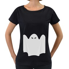 Ghost Halloween Spooky Horror Fear Women s Loose Fit T Shirt (black)