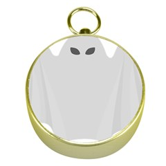 Ghost Halloween Spooky Horror Fear Gold Compasses